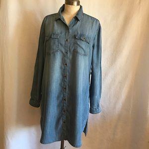 Sneak Peak tencel  denim tunic dress